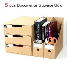 boite de rangement papier bureau 5 pcs ensemble bureau creative gel papier fichier boîte de rangement