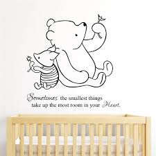 aliexpress com buy multicolor winnie the pooh piglet home aliexpress com buy multicolor winnie the pooh piglet home decoration baby quote wall decal nursery removable wall stickers home decoration t128 from