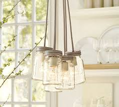 Pendant Barn Lights Exeter 5 Jar Chandelier Pottery Barn