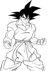coloriage son goku dragon ball z à imprimer sur coloriages info