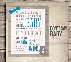 baby shower clothespin baby shower clothespin ideas don39t say baby shower sign boy