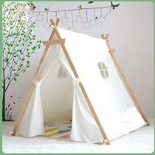 wholesale lovely kid play tent white fabric teepee children bed