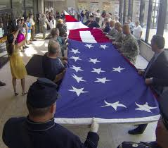 Flag Folding Ceremony State U0027s Display Of Civil War Flag Replica Comes To A Stirring End