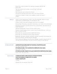 sincere coles management resume skills resume u0027