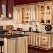 Light Wood Kitchen Light Wood Kitchen Cabinet With Metal Handles Black Marmer