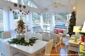 screen porch decorating ideas screened in porch decorated for christmas