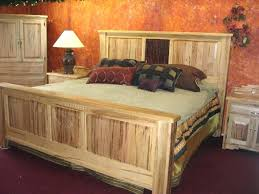 Wood Log Bed Frame King Log Bed Selv Me