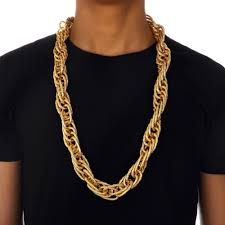 big link necklace images Street fashion hip hop yellow filled thick mens big chunky jpg