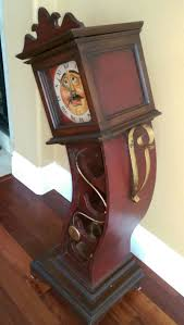 unique drunk grandfather clock wine rack w storage for sale in