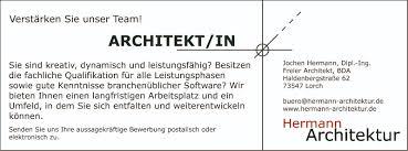 stellenangebote hermann architektur - Stellenmarkt Architektur