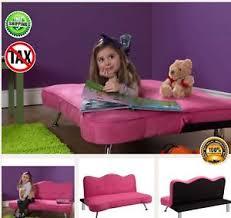 pink sofa kids girls futon sleeper couch lounge chair child chaise
