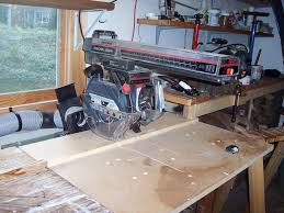 Craftsman Radial Arm Saw Table Radial Arm Fence How To Make Fence