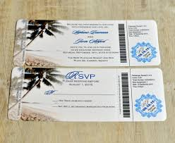 boarding pass invitation or save the date design fee royal blue