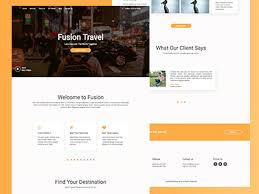 fusion travel html template temaku download freebies themes