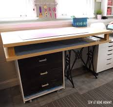 diy craft table ikea appealing sew at home mummy diy fabric cutting and craft table ikea