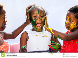 african kids painting friends face stock photo image 49537296