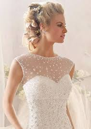 wedding dress overlay in illusion beaded overlay wedding dress wedding dress