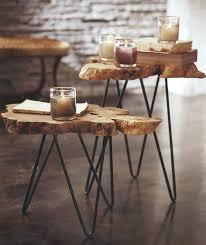 creative idea creative brown tree trunk coffee tables with iron tree