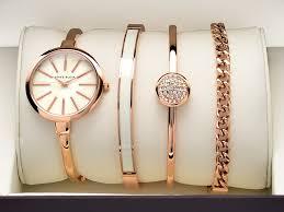 anne klein bracelet gold images Anne klein ak 1470rgst rose gold plated watch and bracelets gift jpg