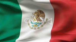 Mexico Flags Creased Satin Mexico Flag In Wind In Slow Motion Lizenzfreie