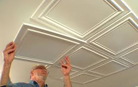 Ceiling Tile Installation Embossed Ceiling Tiles Add Elegance To A Room Hazelton