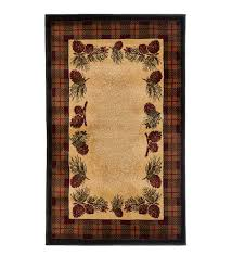 Pine Cone Area Rugs Rectangular Pine Cones Area Rug 30 W X 50 L Small Accent Rugs
