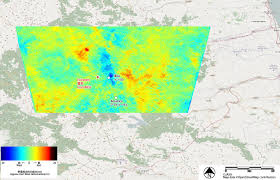 Italy Earthquake Map Land Observing By Alos 2