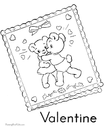 printable valentine bear coloring 004