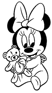 baby minnie teddy bear coloring wecoloringpage coloring
