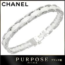white ceramic bracelet images Purpose inc chanel chanel ultra bracelet 17 white ceramic k18wg jpg