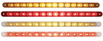 14 led 12 stop turn and park turn clearance light bar