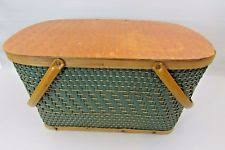 vintage picnic basket burlington vintage picnic baskets backpacks ebay