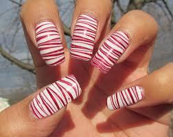 airbrush nail designs candy cane marbling nail art technique