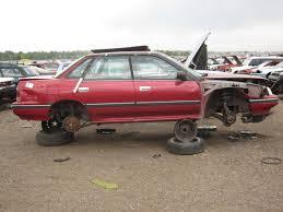 red subaru legacy 2017 junkyard find 1991 subaru legacy l sedan the truth about cars