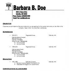 Resume Templates For Nursing Jobs Nurse Resume Templates Jospar