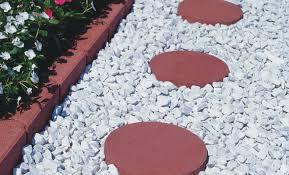 garden ideas white marble rock for landscaping rock for