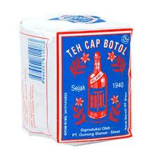 Teh Bubuk bottle brand tea blue pack teh bubuk cap botol bungkus biru