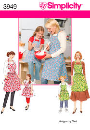 Womens Aprons Child And Womens Aprons Sewing Pattern 3949 Simplicity Sewing