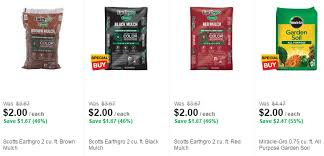 home depot black friday mulch home depot scotts earthgro mulch or miracle gro soil 2 00 per