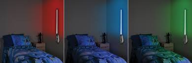colorful character base star wars lightsaber room light glowing