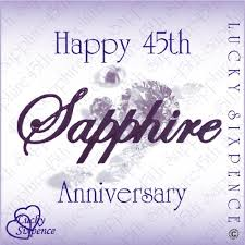 45th wedding anniversary lucky sixpence for 45th wedding anniversary sapphire co