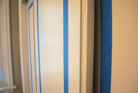 Painting Sliding Closet Doors Painted Sliding Closet Doors Faux Trim Effect The Sweetest Digs