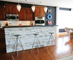 reclaimed wood kitchen island stikwood peel and stick application on a kitchen island this is
