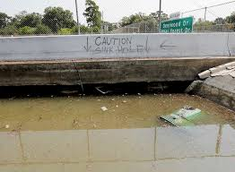 westside lexus parts department tollway took severe hit from harvey buckling pavement san