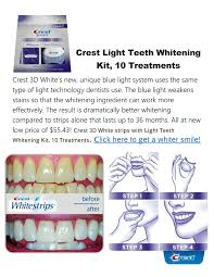 crest 3d white whitestrips with light teeth whitening kit ppt crest light teeth whitening kit powerpoint presentation id