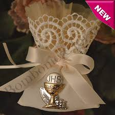 1st communion favors italian communion pouch with italian silver chalice