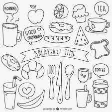 doodle vectors free breakfast time doodles vector free
