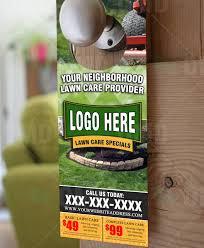 lawn care door hanger design 4 the lawn market