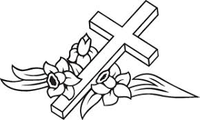 cross with flowers decal religions decals custom