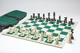 cool chess set weighted tournament chess pieces with vinyl board and carryall bag